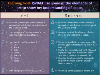 Elementary Art Lessons 4th & 5th: Elements of Art and Space Science
