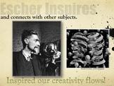 Elementary Art Lessons: Escher Clay Printmaking Self Portraits & Marzano DQ
