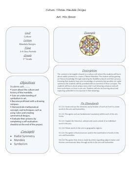 Elementary Art : Mandala Lesson Plan