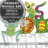 Elementary Art, Middle School Art Early Finisher Reptile D