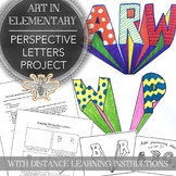 Elementary Art Perspective Letters Project with Distance Learning Instructions