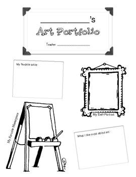 Elementary Art Portfolio Cover