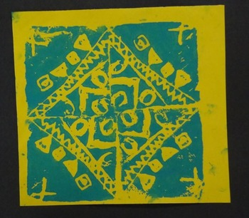 Elementary Art  Radial Mandala Printmaking Unit