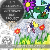 Elementary Art Distance Learning Project Pack for 2nd Grad