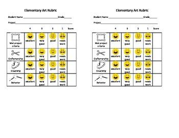 Elementary Art Rubric