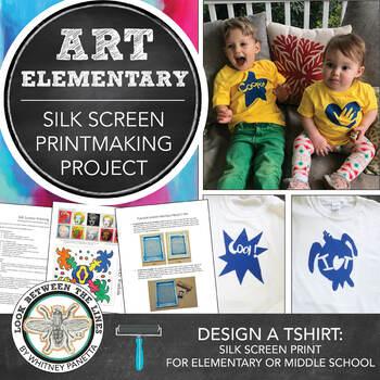 Elementary Art: Silk Screen Printmaking, Graphic Design, & Logo Lesson Plan Pack