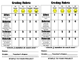 Elementary Art - Student Self-Evaluation Project Rubric
