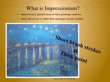 Elementary Art Lesson 3rd: Van Gogh Impressionism Oil Pastel Self Portraits