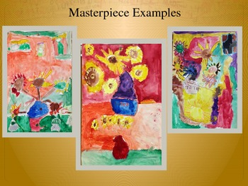 Elementary Art Lesson 1st: Van Gogh Impressionism Pastel/Watercolor & Marzano DQ