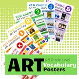 Elementary Art Vocabulary - Grade Levels K-5