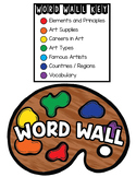 Elementary Art Word Wall - OVER 230 WORDS WITH PICTURES