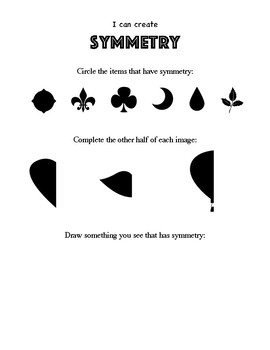 Elementary Art Worksheet. Identifying Symmetrical Objects. Complete the symmetry