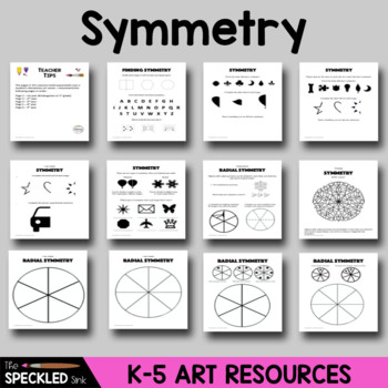 Elementary Art Worksheet. Identifying Symmetrical Shapes, Letters and Pictures