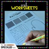 Elementary Art Worksheet Set. Elements & Principles for K-5.