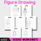 Elementary Art Worksheet Set. Introduction to Figure Drawing