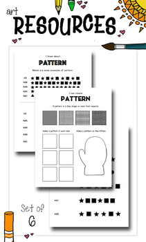 Elementary Art Worksheet Set. Introduction to Pattern.