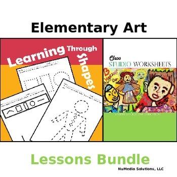 Elementary Art Worksheets Bundle - Pre-K to 5th Grade