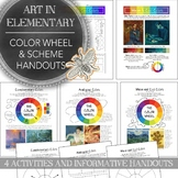 Elementary Art or Middle School Art Color Wheel & Color Sc