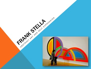 Elementary Art Lesson and Presentation 1st: Frank Stella Abstract Art Collage