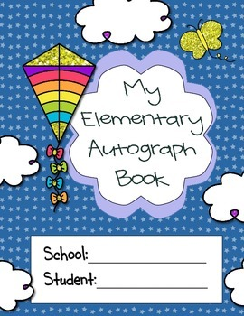Elementary Autograph Book