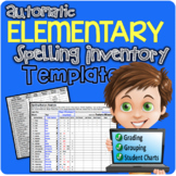 Elementary Automatic Spelling Inventory Template