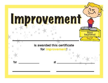 Elementary Award Certificates