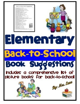 Elementary Back-to-School Book Suggestions