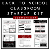 Elementary Back to School Classroom Startup Kit
