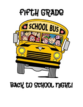 Elementary Back to School Night Packet
