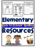 Elementary Back-to-School Spelling Resources