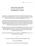 Elementary Band - Band Karate White/Yellow Belt - FREE Download