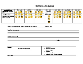 Elementary Behavior Management Chart (K-5)