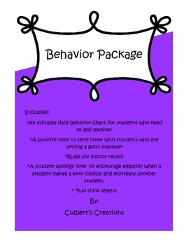 Elementary Behavior Package