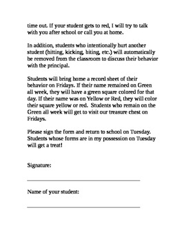 Elementary Behavior Plan (English and Spanish)