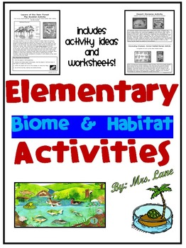 Elementary Biome and Habitat Activities