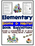 Elementary Biome and Habitat Book Suggestions