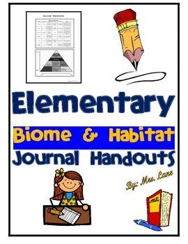 Elementary Biome and Habitat Journal Handouts