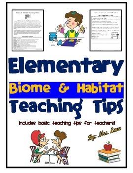 Elementary Biome and Habitat Teaching Tips