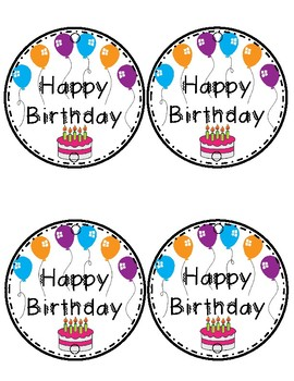 Elementary Birthday Pack