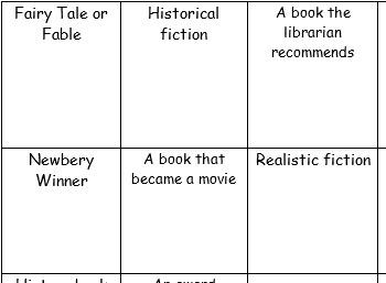 Elementary Book Challenge