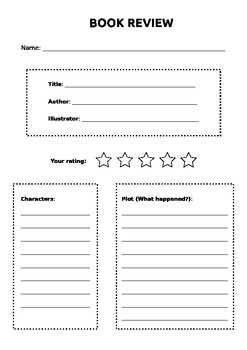 elementary book review worksheet by leah the librarian tpt. Black Bedroom Furniture Sets. Home Design Ideas