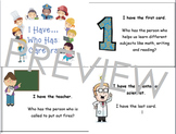 Elementary Career Awareness & Exploration; I Have, Who Has