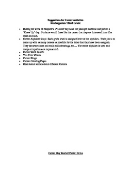 Elementary Career Day Planning Packet