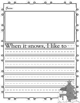 Elementary Christmas Themed Writing Prompts