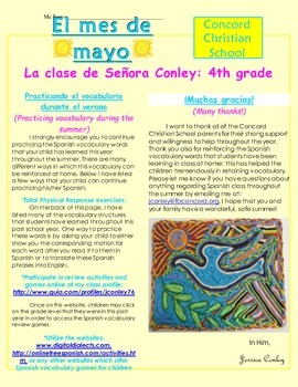 Elementary Class Newsletter Sample/Template