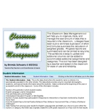 Elementary Classroom Data Management & Gradebook PC 2007