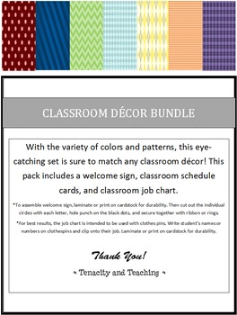 Elementary Classroom Decor Bundle