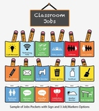 Elementary Classroom Jobs Chart: Pocket Icons, Customizabl
