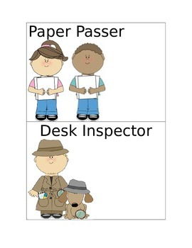 Elementary Classroom Jobs Posters