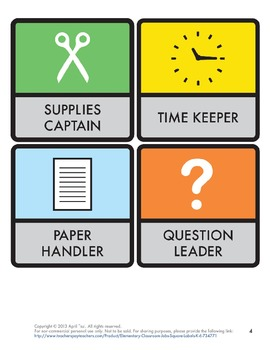 elementary classroom jobs square labels k 6 by judy lau tpt